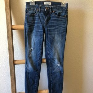Madewell Skinny Skinny high rise distressed jeans